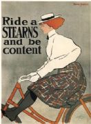 Vintage British bicycle advertisment poster - Stearns